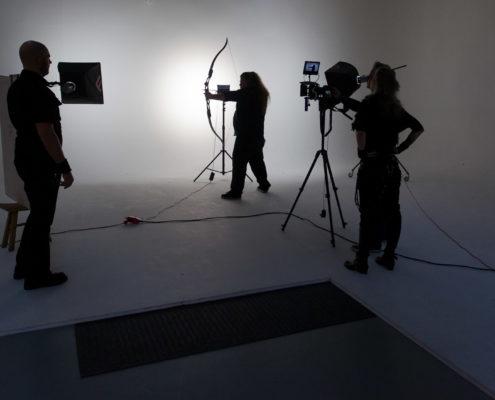 Muziekvideo opnames filmstudio huren.