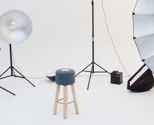 Studio huren met lichtappaatuur