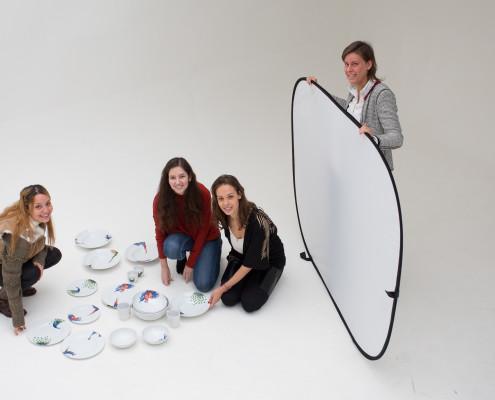 Servies fotografie in onze daglichtstudio.