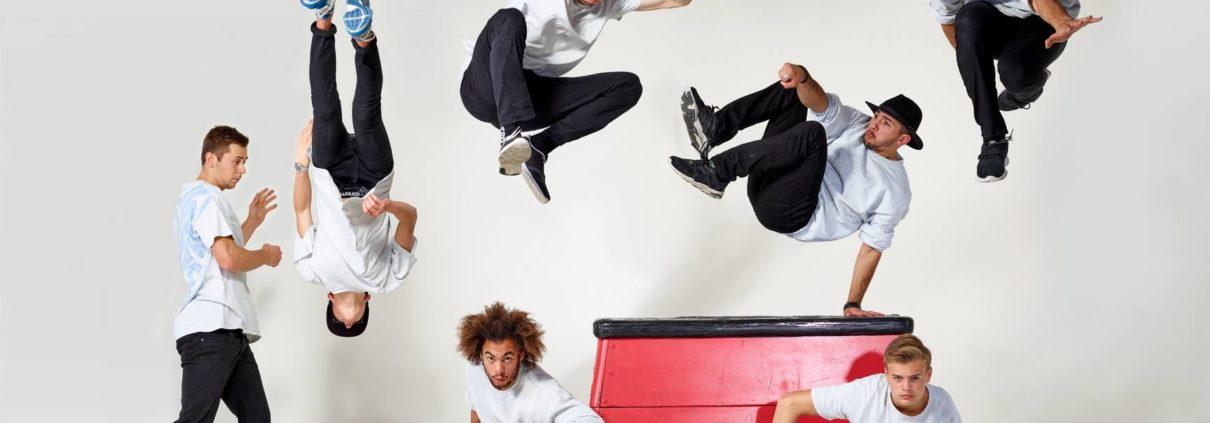 Studio huren Freerunner fotoshoot