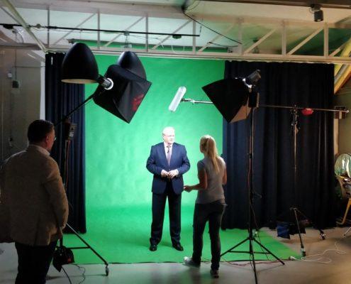 Greenscreen chromakey studio huren Den Haag